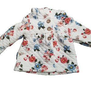 CARTERS Hooded Floral Quilted Sweater Jacket 6m